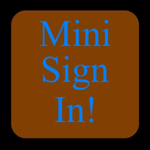 MiniSignIn - Collect Attendee Information - iPhone Edition