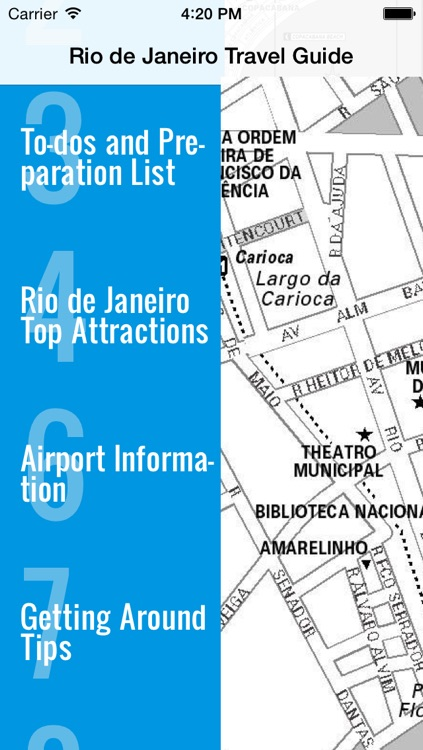 Rio de Janeiro travel guide and offline map - metro Rio de Janeiro subway RiodeJaneiro tube Rio de Janeiro underground airport transport, city Rio guide, tourist traffic maps lonely planet Brazil worldcup trip advisor screenshot-3