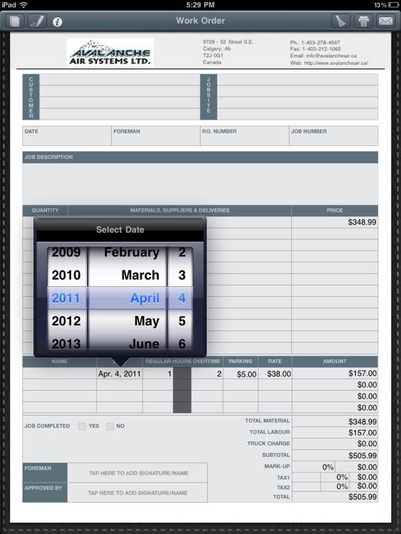 Contractor Forms HD screenshot-4