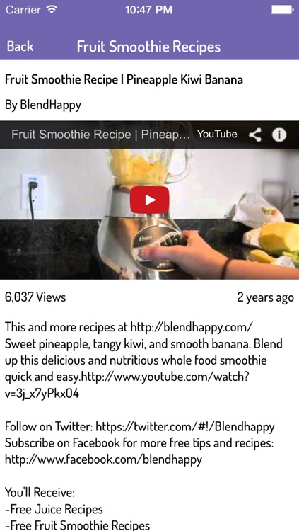 Smoothie Recipes Video Guide: Ultimate Videos of Healthy Smoothie Recipes screenshot-4