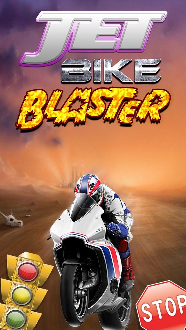A Jet Bike Blaster - Motorcycle Burnout Fast Speed Racing