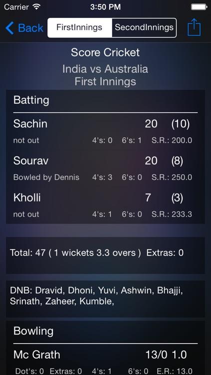 Score Cricket screenshot-4