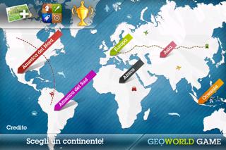 Screenshot of GeoWorld: imparare la geografia divertendosi2