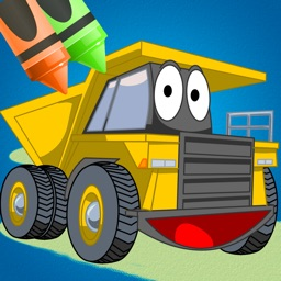 Coloring Book: Cars and Trucks for Kids with Fun Diggers, Tractors and Construction Vehicles for Free