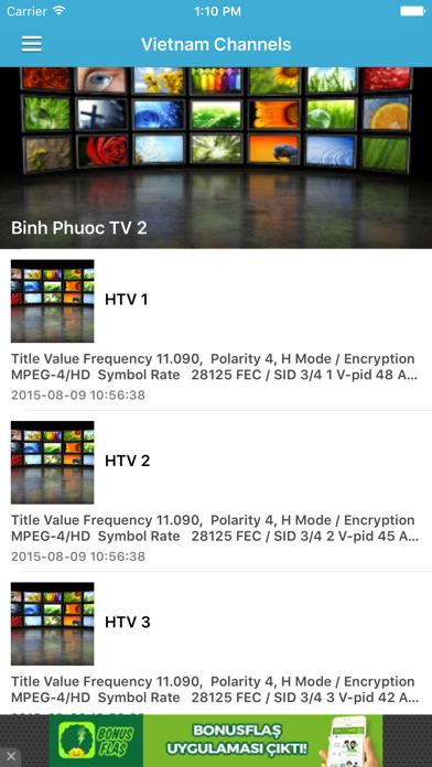 Vietnam TV Channels Sat Info screenshot two