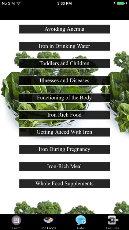 High Iron Food - Whole Food Supplements