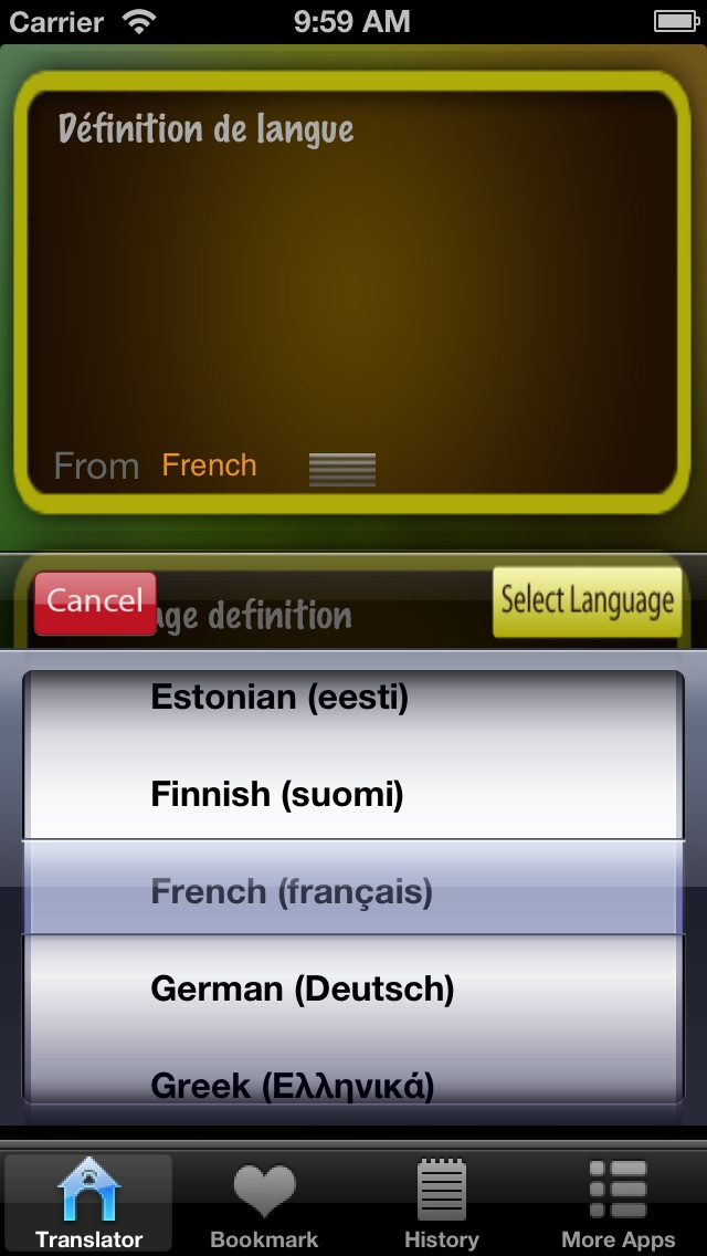 Language Translator Lite HD Скриншоты3