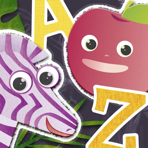 ABC Animal vs. Veggie Flash Cards - Fun Animals & Vegetables Alphabet Flashcards from A to Z for Kids
