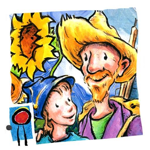 Van Gogh and the Sunflowers: encourage creativity and teach your child art history in this interactive book with text and paintings by Laurence Anholt (by Auryn Apps)