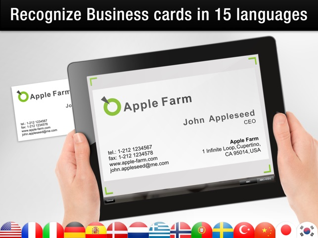 Business card reader hd on the app store ipad screenshots reheart Gallery