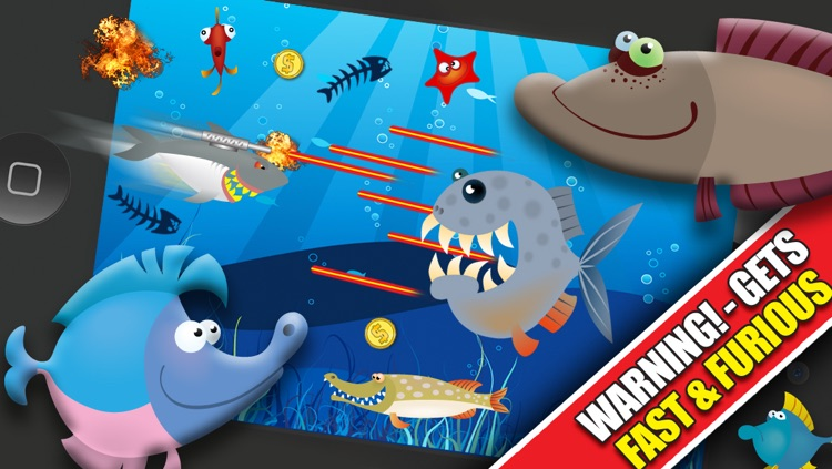 Shark Attacks! FREE : Hungry Fish Revenge Laser Shooting Racing Game - By Dead Cool Apps screenshot-3