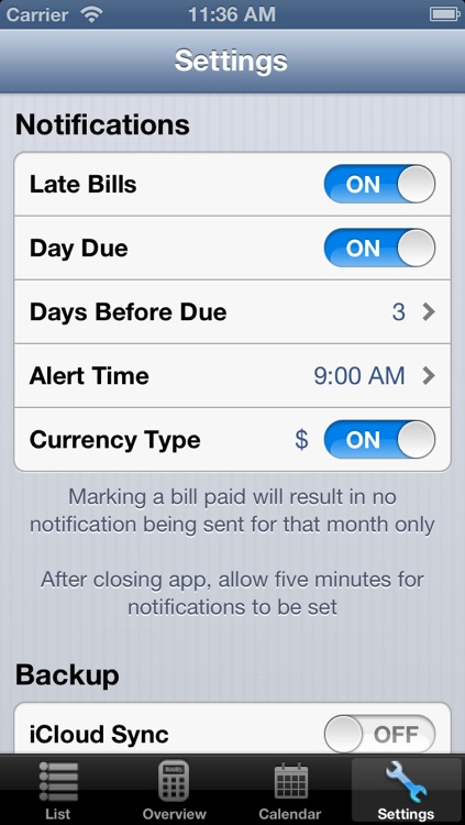 Monthly Bill Reminder - Bills Manager screenshot-1