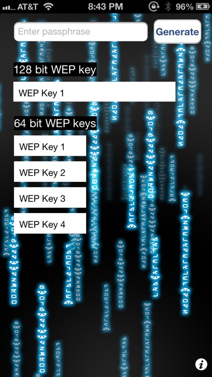 WEP Password Generator for WiFi Passwords