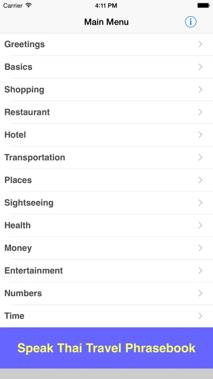 Speak Thai Travel Phrasebook screenshot-0