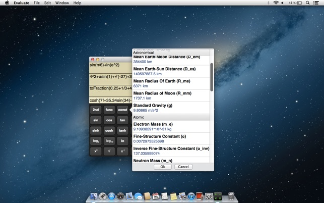 Mac App Store에서 제공하는 Evaluate Scientific Calculator