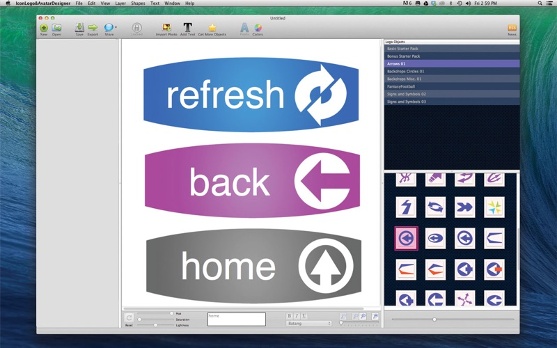 Icon Logo and Avatar Designer Screenshot