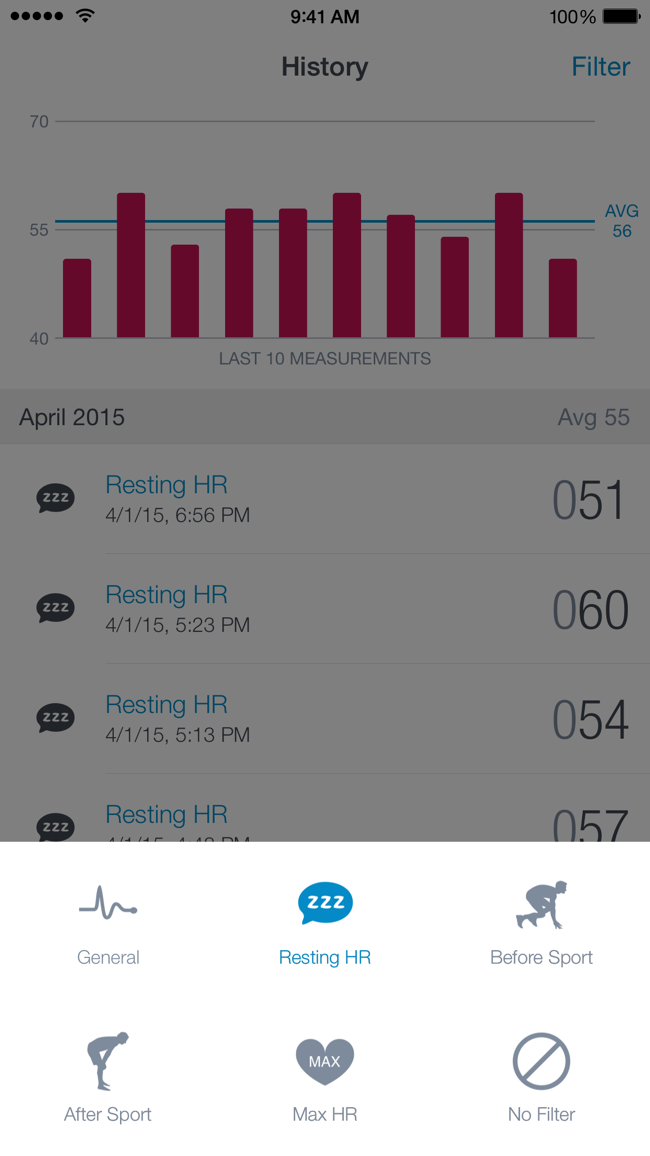 Runtastic Heart Rate PRO Screenshot