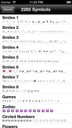 Special Symbols For Facebook Twitter Texts Email On The App Store