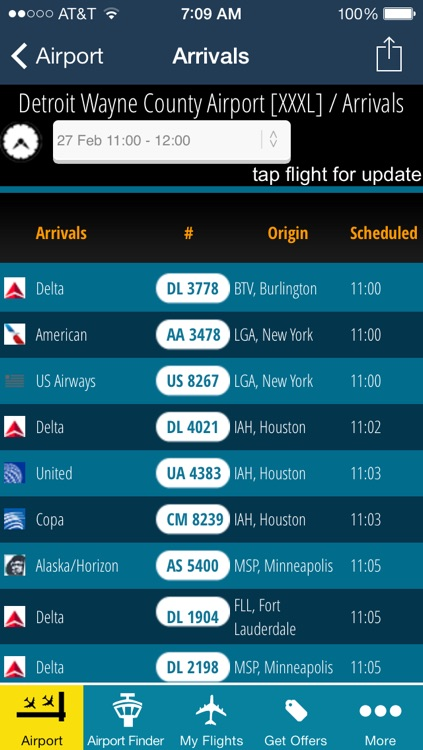 Detroit Airport DTW Flight Tracker Wayne County