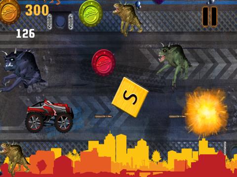 Abaiser Monster Trucks Vs Zombies: Free Words War Game-ipad-2