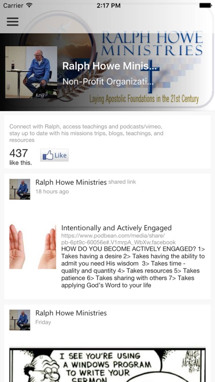 Ralph Howe Ministries screenshot-2