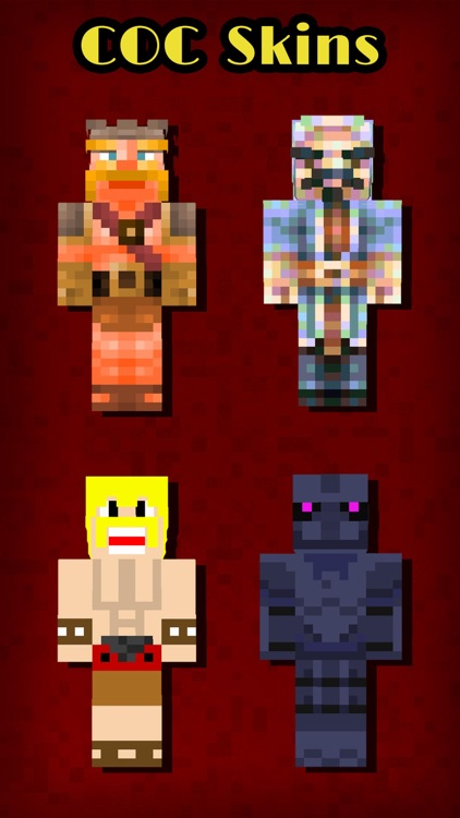 COC Skins Booth Pro - Pixel Art of Clash of Clans Characters for MineCraft Pocket Edition