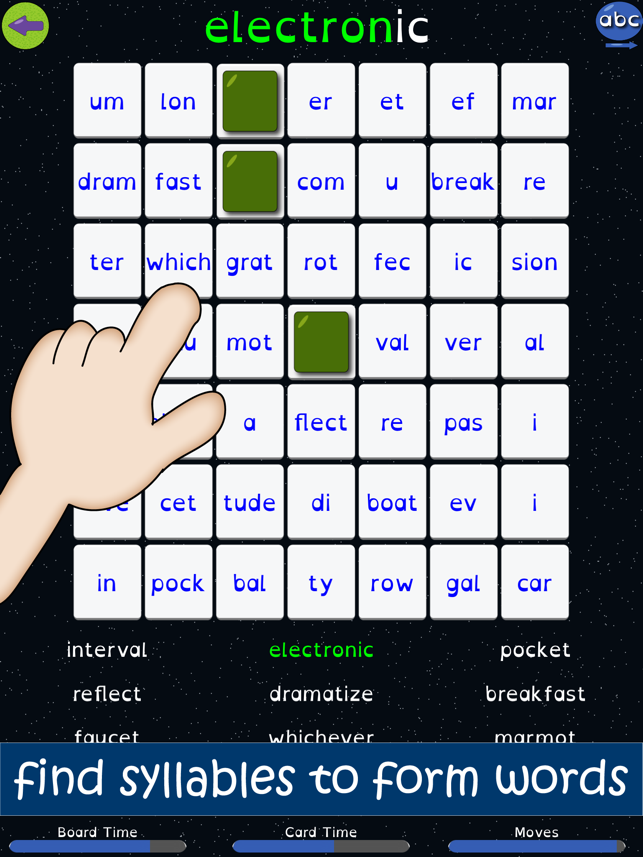 ‎Syllable Word Search - School Screenshot