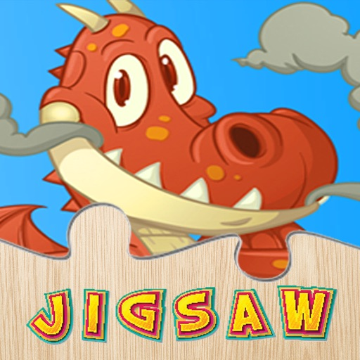 Dinosaur And Dragon Puzzle - Dino Jigsaw Puzzles For Kids Toddler and Preschool Learning Games iOS App