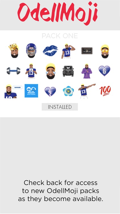 OdellMoji by Odell Beckham Jr. screenshot-1