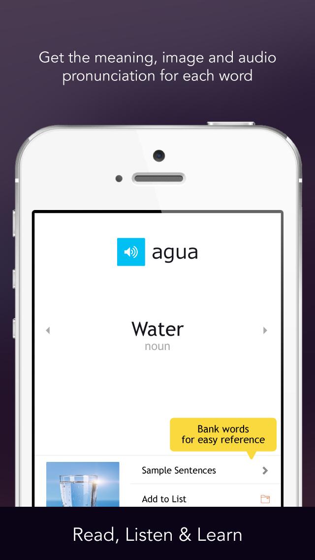 Learn Spanish - Free WordPower screenshot two