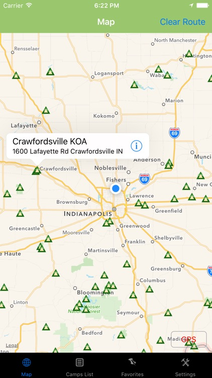 Indiana – Camping & RV spots screenshot-0