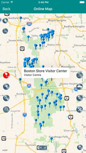 Cuyahoga Valley National Park Map Ohio on the App Store