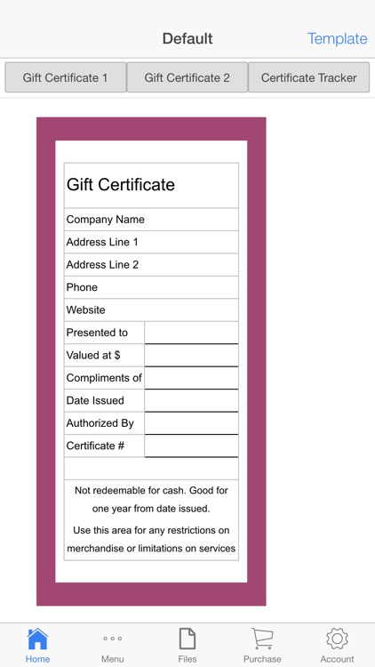Gift Certificate screenshot-0