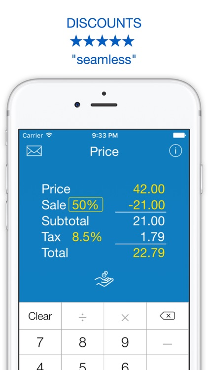 Sales Tax, Discount Calculator, Tip and Price Shopping Calculator