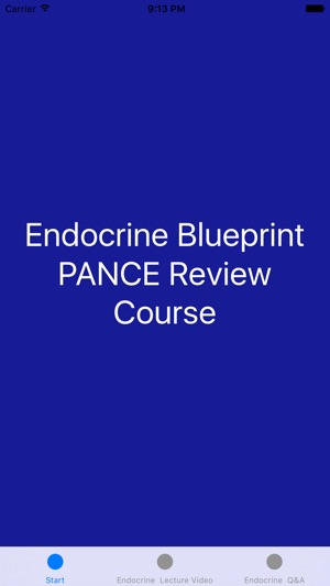 Endocrine blueprint pance panre review course en app store iphone ipad malvernweather Gallery