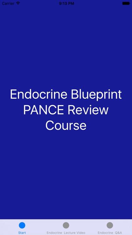 Endocrine Blueprint PANCE PANRE Review Course