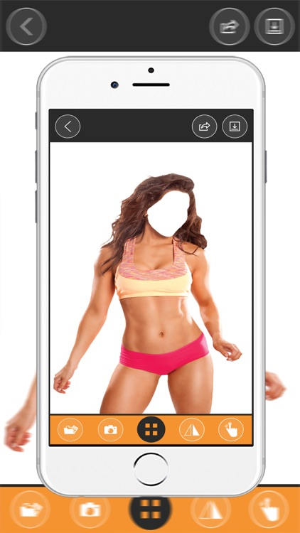 Fitness Girl  Body Photo montage App-Woman Body builder PHoto Montage