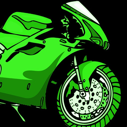 Turbo Motorcycle Neon