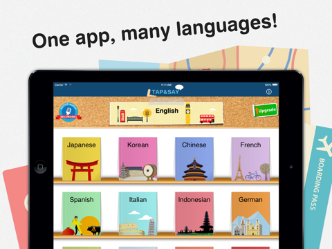 Tap & Say - Speak Phrase Book for travelling the world screenshot