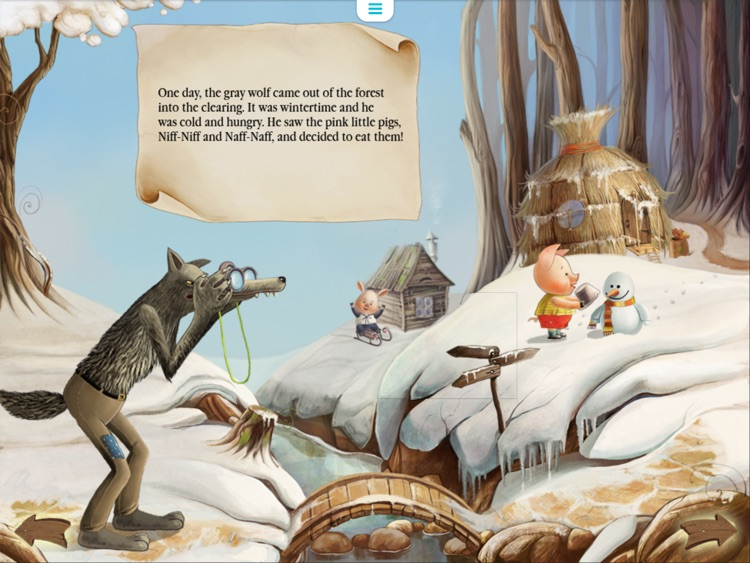 Three Little Pigs Today. Animated book for toddlers. screenshot-2