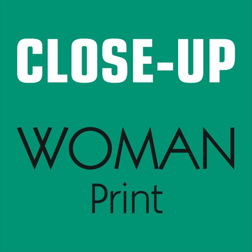Close-Up Woman print