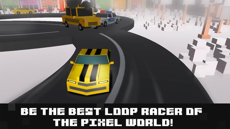 Pixel Car Racing: Loop Drive screenshot-4