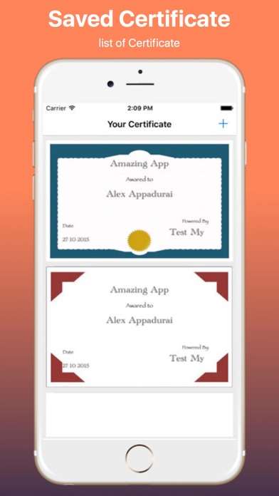 create your own certificate pro app price drops