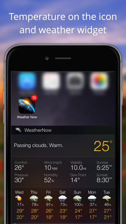 Weather Now Widget for iPhone screenshot-4