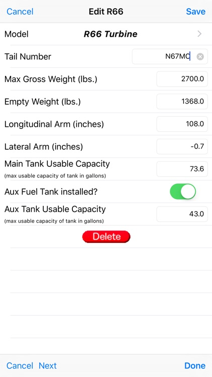 R66 Weight & Balance screenshot-4