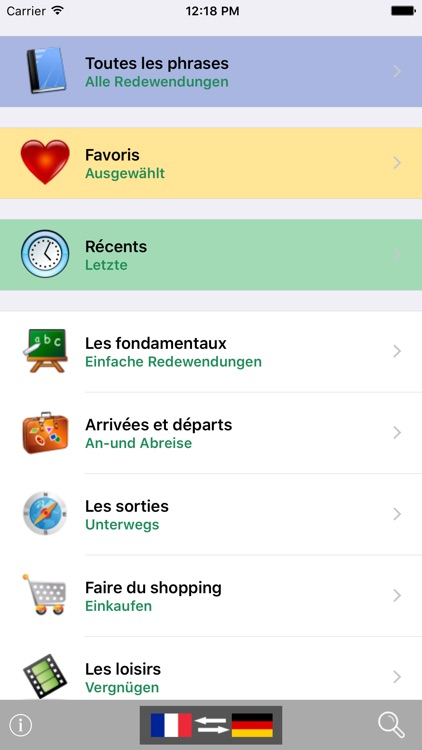 French / German Talking Phrasebook Translator Dictionary - Multiphrasebook screenshot-0