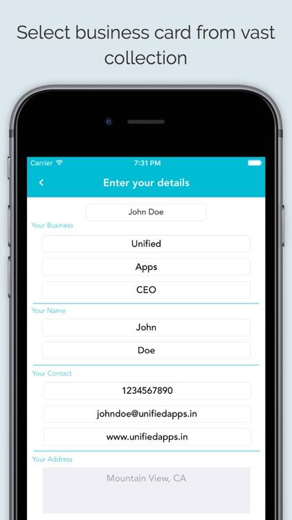 Business Card Maker App screenshot-3