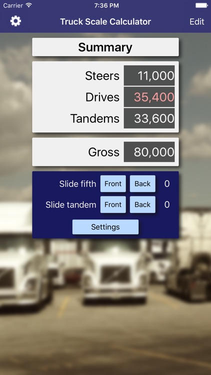 Truck Scale Calculator screenshot-0