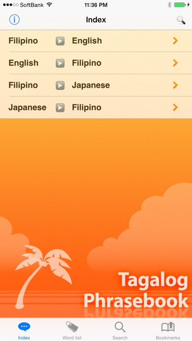 Screenshot for Tagalog Phrasebook & Dict in Russian Federation App Store