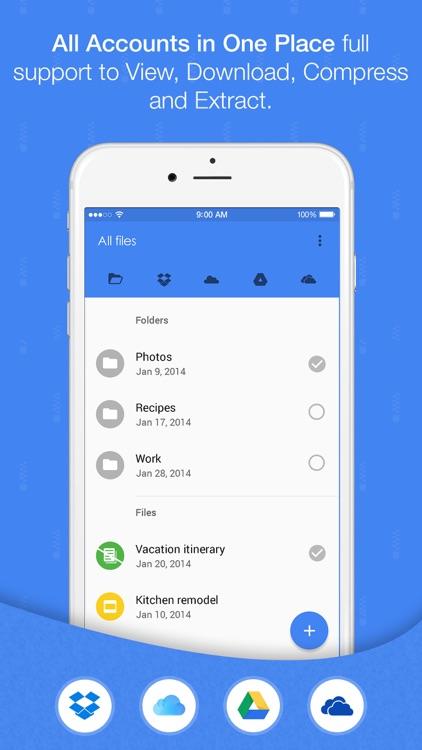 Easy Zip Pro - With Dropbox Google Drive iCloud and OneDrive screenshot-0